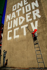 One Nation Under CCTV (Herschell Hershey) Tags: street london art robin one graffiti interestingness under nation banksy cctv explore gunningham