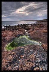Nethertown Water (broad.sword) Tags: ireland seascape windmill landscape rocks wexford hdr rosslare photomatix tonemap nethertown