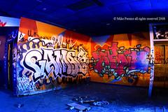 Shooters Nightclub Interior Wall (efatzo) Tags: ri urban art island graffiti long exposure industrial nightshot decay nightclub providence fisheye rhode sureeal urbanprovidence