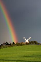 The Skittles Factory (. Andrew Dunn .) Tags: uk cambridge england windmill landscape spring rainbow cambridgeshire eastanglia interestingness6 fulbourn i500 challengeyouwinner