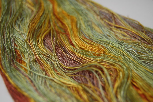 """Sunflowers"" bamboo laceweight singles"