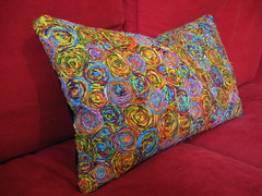 Recycled Sari Cushion - 3 (Wildspiritart) Tags: house art home furniture livingroom decorating decor