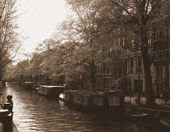 boat houses (instantcatchers) Tags: amsterdam river boathouses