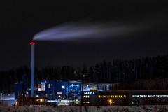 Factory in Gjøvik (Cameron Richardson) Tags: gjøvik norway long exposure slow shutter light painting lightpainting night industrial factory