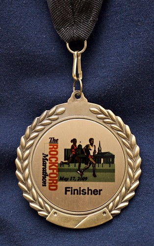 Rockford Marathon finisher medal