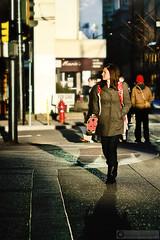 Hornby Street (PiscesDreamer) Tags: street city shadow urban sun canada vancouver downtown britishcolumbia streetphotography ladybug onelove hornbystreet ladiebug ladybugbag