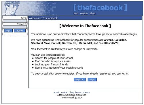 Facebook Login Page: Through The Years - 2004 to 2011 - TechPinas