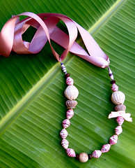 fair trade (Mzuri beads) Tags: bananaleaf barkcloth cowhorn paperbeads ethicalfashion ribbonnecklace recycledjewelry fairtradejewelry naturalbeads fairtradebeads ugandanbeads ecojewellery ethicalbeads mzuribeads ugandanjewelry kirstiemaclean