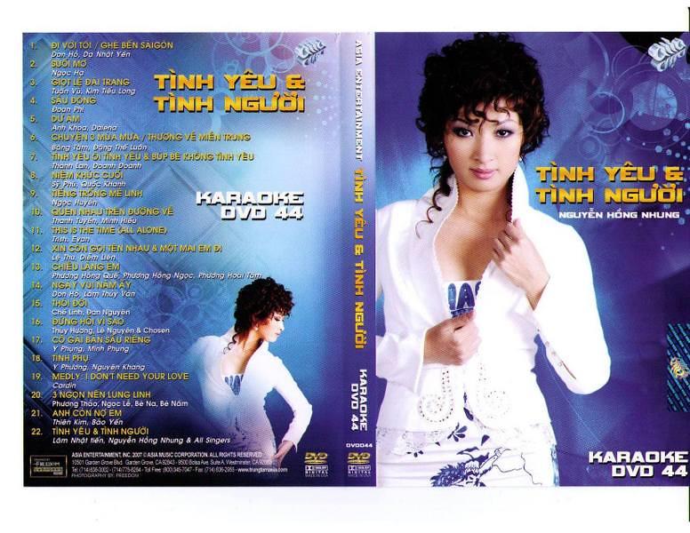 """ASIA 44 Karaoke """" Tình Yêu & Tình Người """" DVD5"""