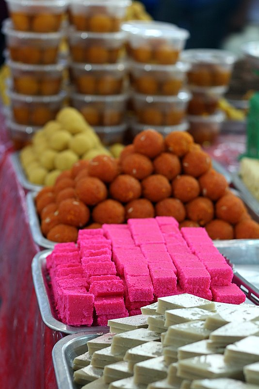 Variety of sweetmeats
