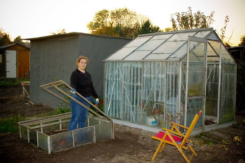Greenhouse and Cold Frames by BrassMonkey on Flickr