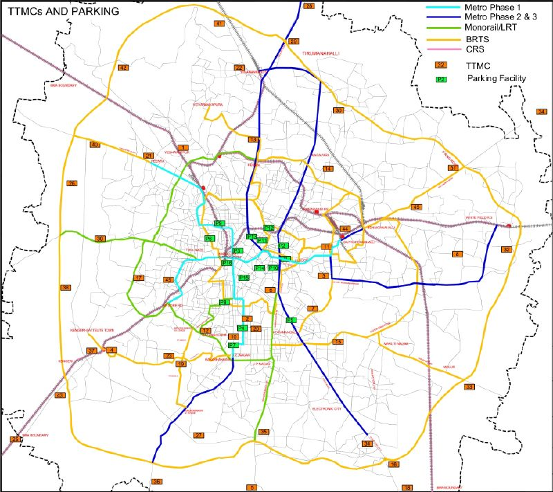jc road bangalore map 4 The Proposed Traffic And Transportation Plan jc road bangalore map