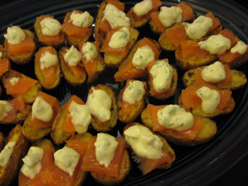 Cumin Roasted Potatoes with Smoked Salmon