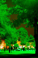 """Green Effect"" Park - Rasht, Iran (friend_faraway *) Tags: park man green garden landscape women iran tea streetphotography bazaar rasht chay openmarket nightimage coloursplosion antiqueseller"