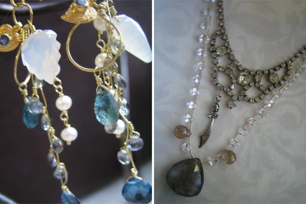 pequitobun, chic and charming, etsy, jewelry, handmade, vintage, semiprecious stones