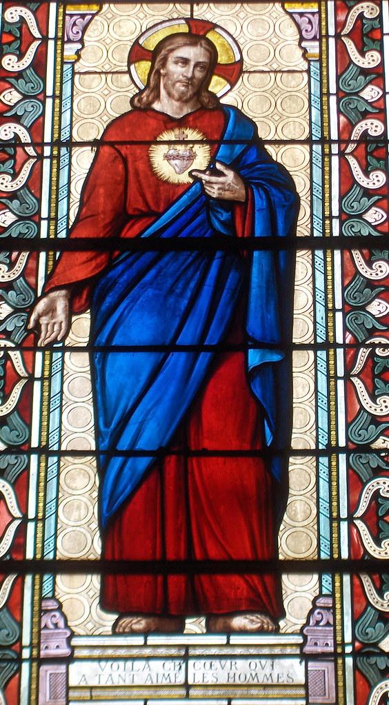 Vitrail du Christ, église de Saint-Branchs