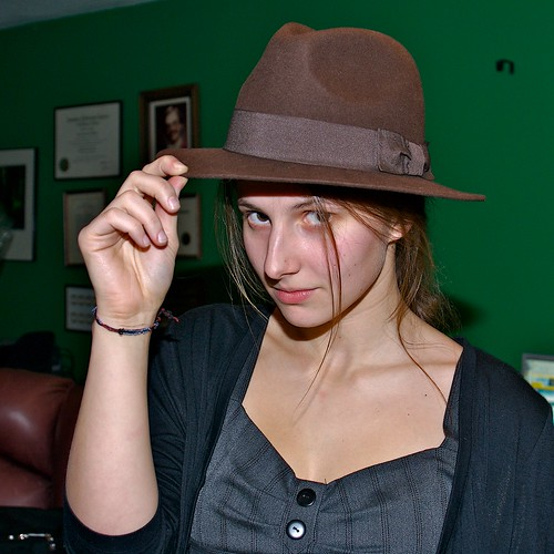 Ana with Fedora