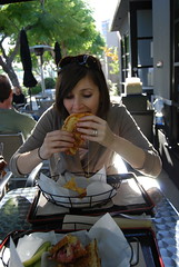 I eat so delicately (jslander) Tags: california cheese lunch losangeles chips melted meltdown potatochips cheesey culvercity