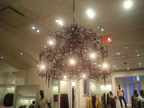 Chandelier in Saks Fifth Avenue
