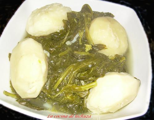 cocido gallego patatas y grelos +