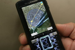 Sony Ericsson k850i running Google Maps for mobile