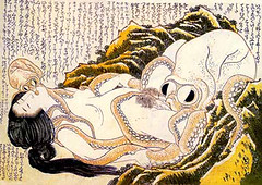 Dream of the fisherman's wife by hokusai