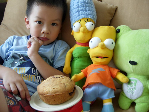The Simpsons, cake and boy