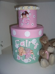 G box and fairy box (marmaladeandcream) Tags: pink glitter wings paint wand polymerclay fimo fairy ribbon boxes rhinestones pompoms stenciling papermache mintgreen allmixedup cricut bazzillcardstock