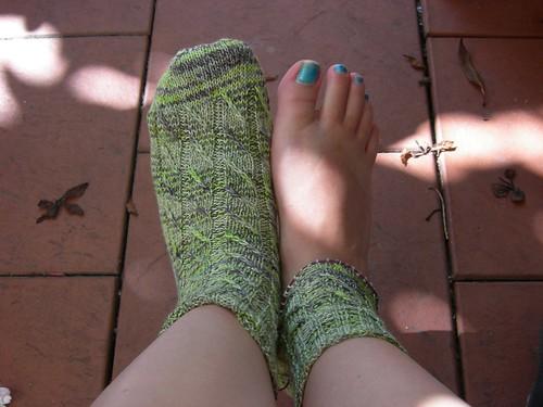 Pub knitting progress