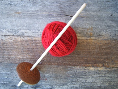 Spun Yarn and Spindle