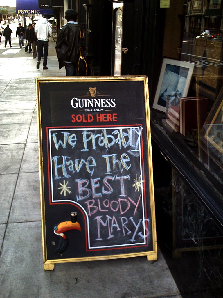 the sign outside of Irish House