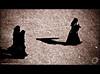 Shadows of our time (Yug_and_her) Tags: life light india black students photoshop walking sand women shadows dress candid muslim islam hijab ground adobe hyderabad incredible oldcity charminar lightroom burkha andhrapradesh yuga 50millionmissing superbmasterpiece tammareddy yugandhar