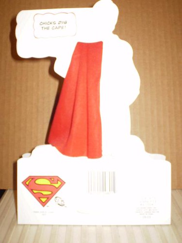Back of Superman Returns Valentine Card 2008