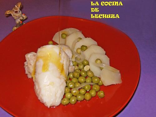 Merluza hervida plato aceite+++