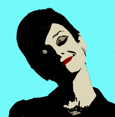 AUDREY (SwEeTcHy) Tags: art smile photoshop artwork stencil audreyhepburn ps pop popart sonrisa