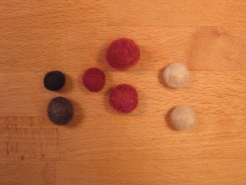 Felted marbles