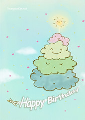 Cloud Cake Birthday Card