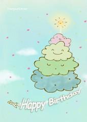 Cloud Cake Birthday Card