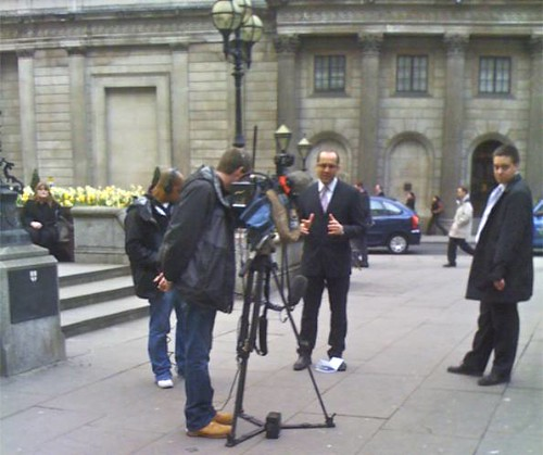 News outside Bank of England