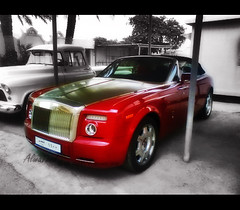 Phantom Drophead Coup (7.. [ USA ]) Tags: red rolls rise phantom coupe qatar 1100 qtr