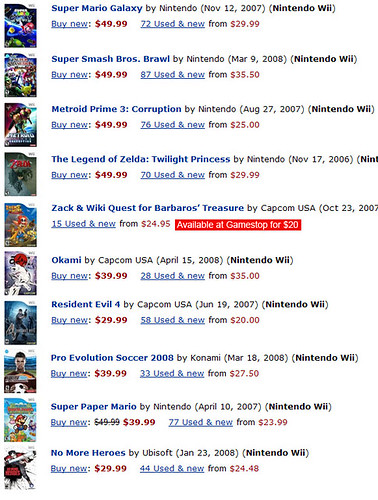Top 10 Wii games, $35.50 or less