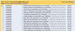 A whole lot of FriendFeed subscriptions
