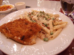 veal and penne carbonara