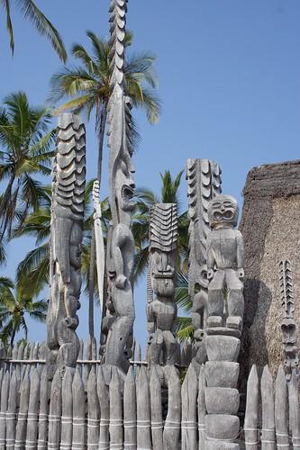 Tikis from Pu'uhonua o Honaunau