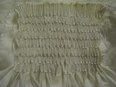 Completed smocking