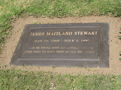James Stewart's grave. Forest Lawn Memorial Park. Glendale. Los Angeles. CA. USA. April 2009 (The Horror) Tags: california usa cemetery grave graveyard star losangeles spring april actor 2009 jamesstewart forestlawnmemorialpark