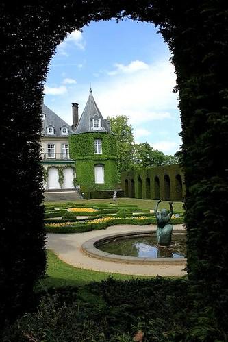 beautiful garden at castle