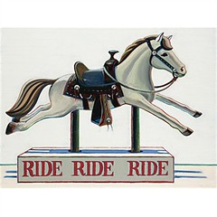 Wayne Thiebaud, Ride ride ride, 1961, Sold for $1,945,000 at Sotheby's November 15 2007
