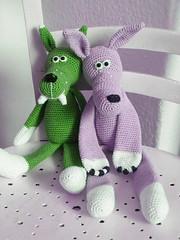 2011_06112Wolf0018 grn und Rosa (Pfiffigste Fotos) Tags: wolf pattern amigurumi crocheted hkeln hkelanleitung gehkelter hkelblog