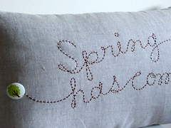 spring has come cushion (tutti fruiti) Tags: embroidery pillow cushion sashiko